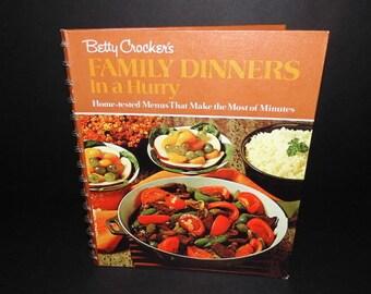 Betty Crocker's Family Dinners Cookbook-Spiral Bound Hardcover 1971