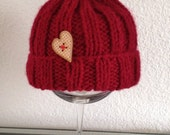 Custom made Baby Hat in Red - Size Newborn up to 3/4 months