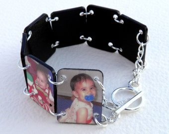 Custom Multiple Photo Bracelet (Color)--FREE Gift Wrapping Included
