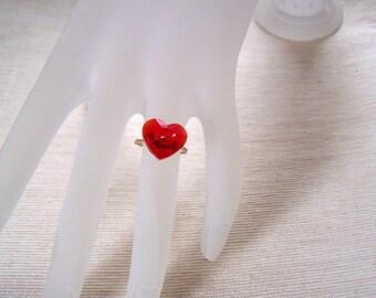 Heart Ring Swarovski Crystal Heart Ring Valentine