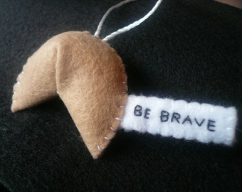 Be brave Christmas ornament felt tree decoration stocking stuffer inspirational tool