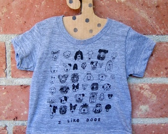Dogs Tiny Tri Blend Grey Baby Tee