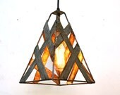 "SAFARI - ""Brushfire"" - Wine Barrel Ring Pendant Light -100% Recycled"