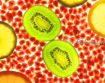 Translucent Kiwi I Food Fruit Wall Art Home Decor Digital Download Fine Art Photography