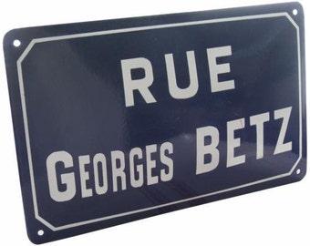 Original French Vintage Street Sign Rue Georges BETZ