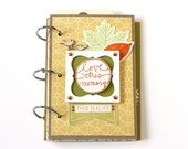 Handmade Gratitude Journal - Handmade Mixed Media Album - Thanksgiving - Scrapbooking - Autumn Colors - Daily Blessings Journal