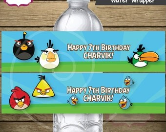 24 - Angry Birds Theme Water Wrapper