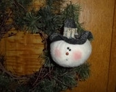 Hand Made Snowman Ornament etsy 229