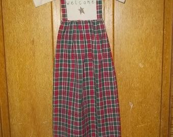 Primitive Grubby Handmade Dress Welcome etsy 241