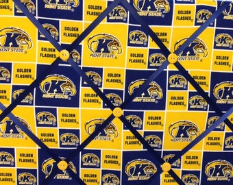 Kent State University Golden Flashes Fabric Photo Memory Board
