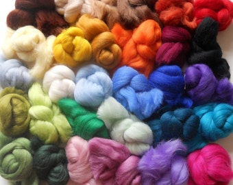 Felting Wools - Merino Wool Tops - 30 colours