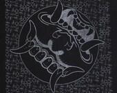 Black Burnout Oni Bandana