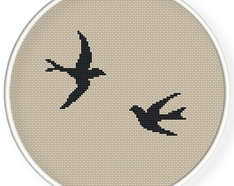 Instant Download,Free shipping,Cross stitch pattern, Cross-StitchPDF,swallows
