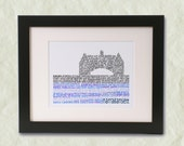 Narragansett Towers Word Art Print
