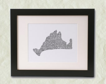 Martha's Vineyard Word Art Print