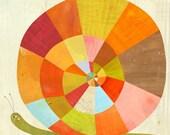 "Slowpoke Snail, Canvas Art Print 24""x24"""