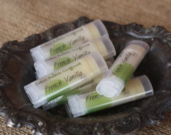 Natural Lip Butter, Mango Green Tea Flavor-Extra Healing/Moisturizing Lip Balm, made with OG Flavor, by Green Bubble Gorgeous on Etsy