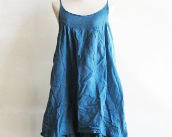 D17 Easy Going Summer Blue Cotton Dress
