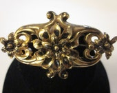 """Vintage """"Sterling Craft by CORO"""" Gold Plated Floral Brooch"""