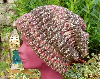 Hand Knitted Dread Tam, Saggy Baggy Beanie Hat