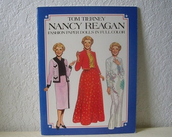 Paper Doll Booklet, Nancy Reagan, Tom Tierney, 1983. Uncut