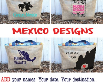Mexico Custom Wedding Tote Bags - Eco-Friendly and Handmade from Recycled Coffee Sacks CC