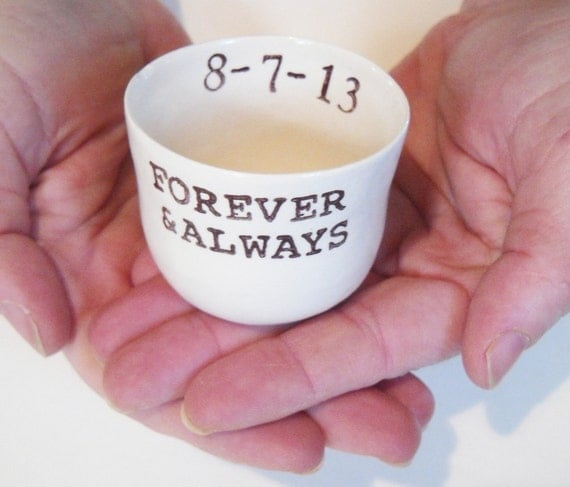 gift for couple CUSTOM RING DISH forever and always wedding ring pillow ring dish ring holder candle holder jewelry dish engagement gift