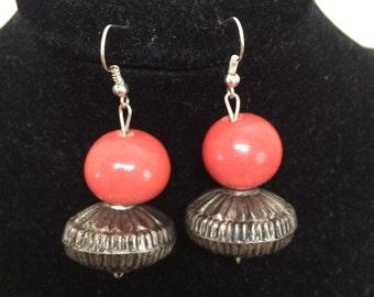 African bead earrings