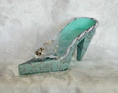 Couture Breakfast at Tiffany's High Heel Paper Shoe