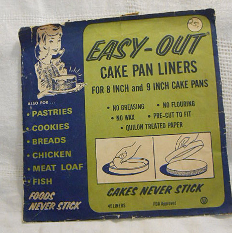 40 Easy Out Cake Pan Liners 8 Or 9 Inch Paper By Azaleatrail