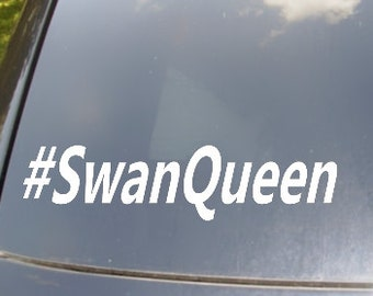 Swan Queen Hastag Car Sticker