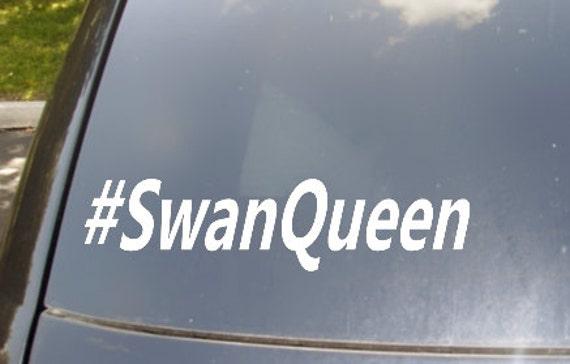 Swan Queen Hastag Car Sticker