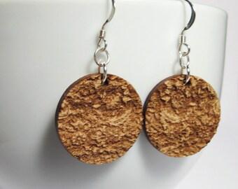 Brocade Earrings - Grandmas Rug - Small Round Standard Hook