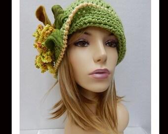 Women's Crochet Hat- 310 Women's Handmade  Cloche hat, Women's Hat, Women's Hat, Formal Hat, Women's Accessories, Hair Accessories
