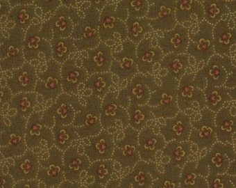 Kansas Troubles Favorites - Leaves Petals in Brown by Kansas Troubles Quilts for Moda Fabrics