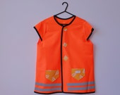 JOYRIDE Neon High Vis Safety Bicycle Vest Tunic for riding in the dark