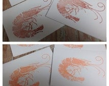 Red & Coral Shrimp Cards 8 count