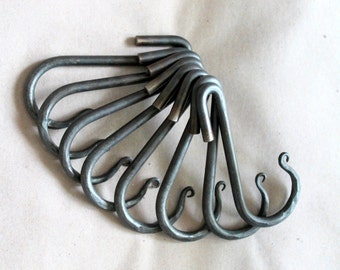 YOU SELECT Quantity - Reduced Price Set of Hand Forged Iron Pot Rack Hooks by VinTin (Item # K-907)