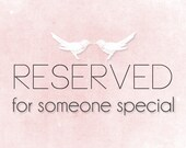 Reserved for Silvia