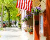 STREET VIEW FALMOUTH Cape Cod, Massachusetts, Fine Art Photography, Travel, New England, Quarter Deck Restaurant, Town, Liz Thomas