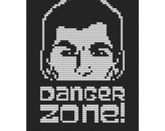 Danger Zone Archer cross stitch pattern .pdf instant download
