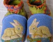 Live the Gift --- Snuggle-Bunnies Woolen Slippers - Waldorf - 12 mo - uPcYcLed