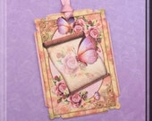 Butterfly Scroll Gift Tags set of 8  No.593