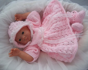 Knitting Patterns For Dolls Booties : Knit baby dress Etsy