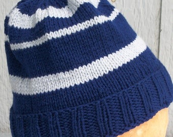 Ravenclaw Inspired Hand Knitted Cap