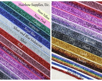 GRAB BAG Glitter Elastic 5/8 inch - 10 or 20 yards - Hairbow Supplies, Etc.