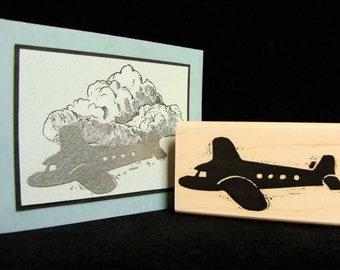 airplane rubber stamp