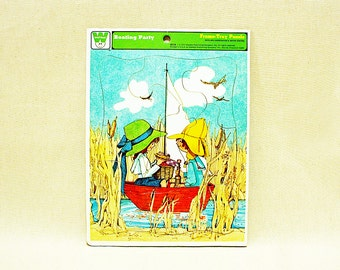 Vintage Boating Party Puzzle 1973