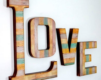 LOVE Letters - Reclaimed Wood Look - Custom