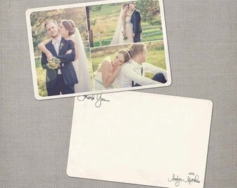 """Vintage Wedding Thank You Cards, 4x6, Wedding thank you cards, the """"Aralyn 4"""""""